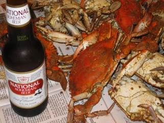 Beer and Crabs Maryland