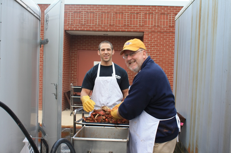 On site steaming at Chapelgate Christian Academy Crab Feast :